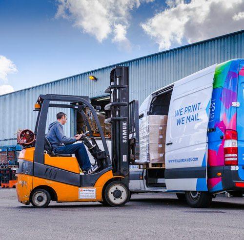 Fuller Davies van delivery load